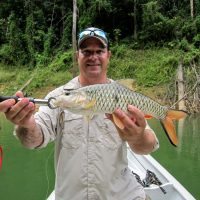 Scott Bremner personal best Sebarau! more less 1kg. Thanks to Tokwan Iron Lure 7g Silver.
