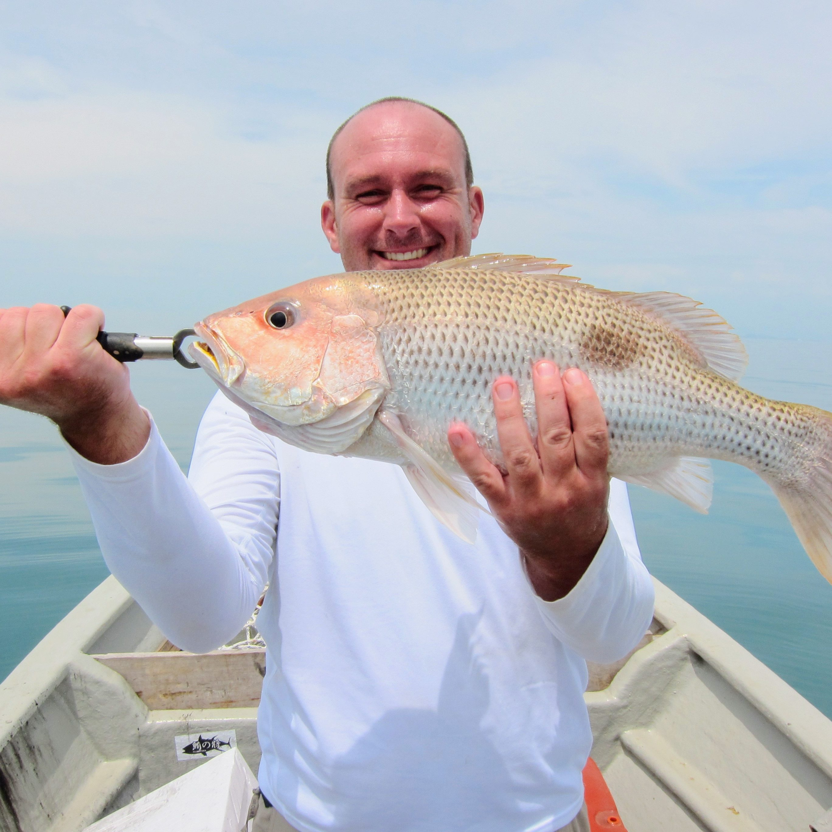 Trophy catch! Golden Snapper, the prized catch when you are out fishing in Port Dickson!
