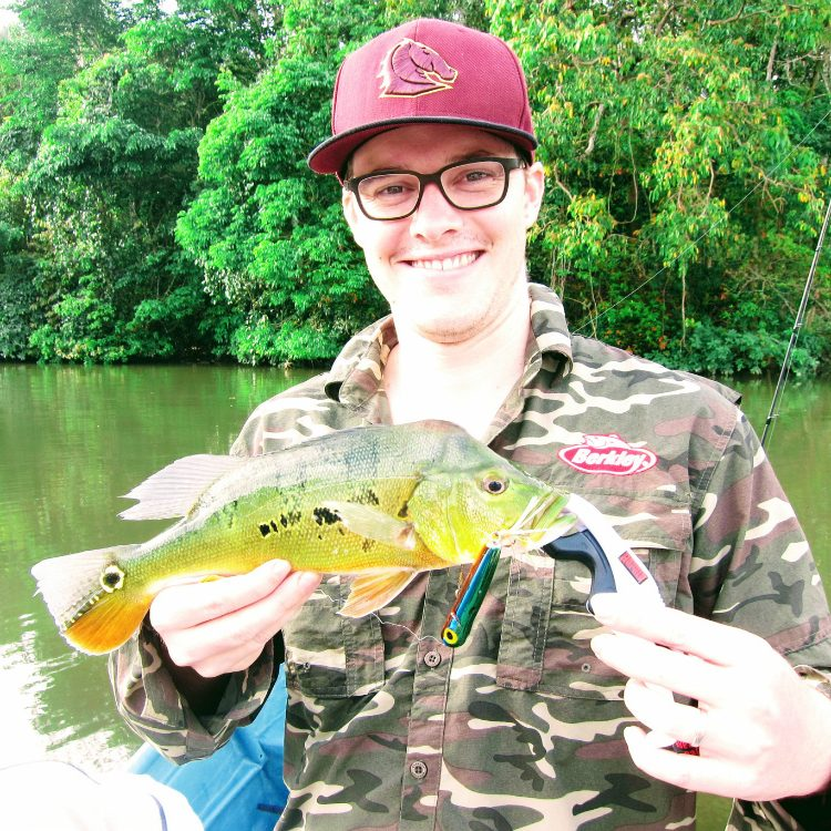 The only Peacock Bass of Kg Beng Mini Amazon landed that day.  A nice 30-35cm specimen.